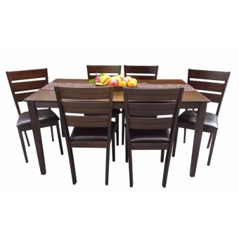 Harga Hapihomes HANson 6-Seater All Wood Dining Set