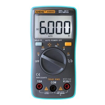 Harga Digital Multimeter 6000 Counts Backlight AC/DC Ohm Ammeter - intl