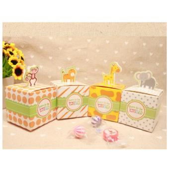 4 Pcs. Baby Shower Favors Safari Animal Wild Favor Box Candy Box Souvenir Boy/Girl Kids Event & Party Supplies Birthday gift kids 29g Price Philippines