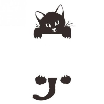 Black Switch Cat Wall Stickers Light Switch Decor Decals Art Mural Baby Nursery Room Price Philippines
