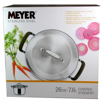Harga Meyer Brown Sugar S/S 26cm /7.6l Covered Stockpot