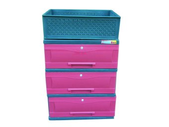 Harga Power Box Chest Drawer D.288-3L(Red)