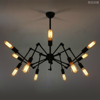 12 lights Black Modern Brass Mid Century Sputnik atomic chandelier starburst light Fixture Loft American Style Spider Chandelier Price Philippines