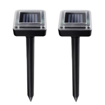 Harga Solar Outdoor Unltrasonic Pest Repellant for Moles, Voles, Rates,Snakes,Pests and Rodents Repeller set of 2 (black)