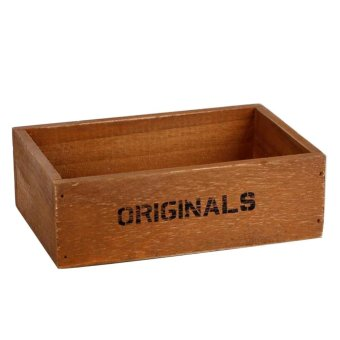 Harga Handmade Rustic Antique Storage Vintage Wooden Boxes/Crates Trugs Retro - intl