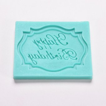 Harga Happy Birthday Silicone Mould Cake Mold - intl