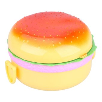 Burger Boxes Double Plastic Insulation Box Lunch Box Lunch Box - intl Price Philippines