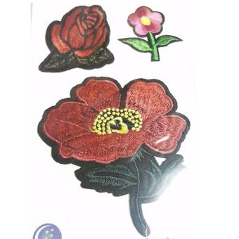 Harga Stephen and Sabrina Popular DIY Patches Embroidery Cloth Flower 01
