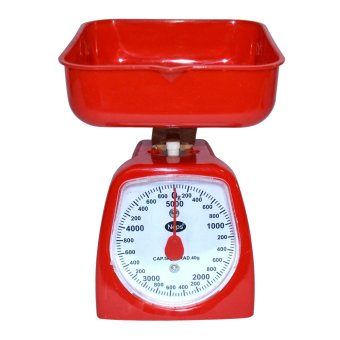Harga Accurate 5 Kilos Nops Kitchen Scale (Red)
