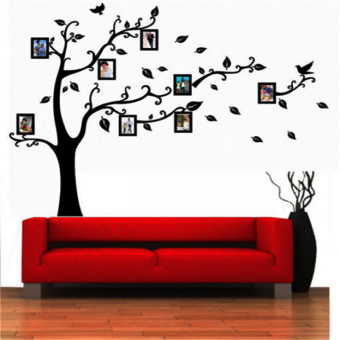 Harga Black Tree Wall Decal Sticker Family Quote Photo Frame Home Decor Large - Intl