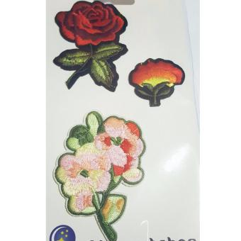Harga Stephen and Sabrina Popular DIY Patches Embroidery Cloth Flower 03