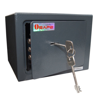 iSAFE iSF-8KDG Safe Personal Key Safety Vault (Dark Grey) Price Philippines