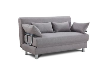 TATUM Sofa Bed with Throw Pillows (Grey) Price Philippines
