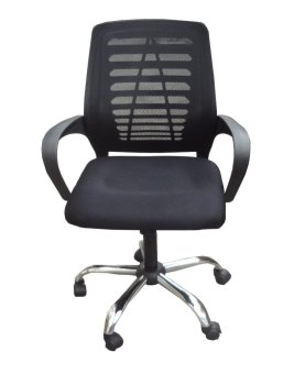 Harga Hapihomes Aaron Mid Back Office Chair (Black)