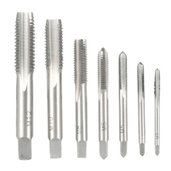 7PCS/Set High Hardness M3-M12 Metric Straight Fluted Screw Thread Taps Bearing Steel Screw Tap Set for Hand Use M3 M4 M5 M6 M8 M10 M12 - intl Price Philippines