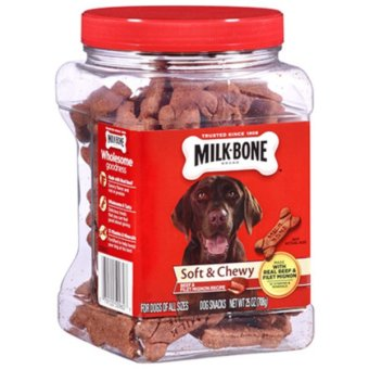 Milk-Bone Soft And Chewy Filet Mignon & Beef Bones Dog Treats Snack 708grms (Red) Price Philippines