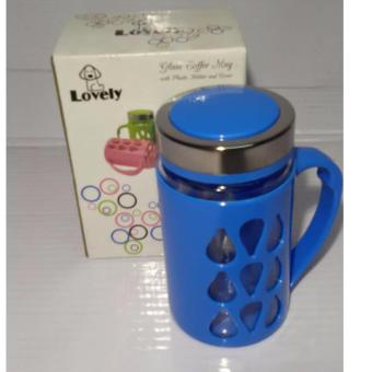 Harga Fashionable Mug with Plastic Protector Blue