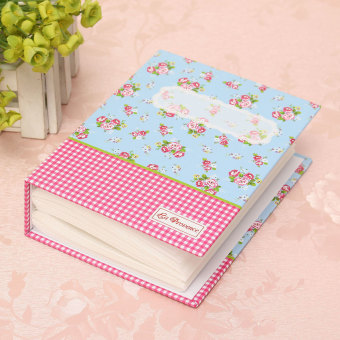 Harga 100 Photo 6'' Slip In Self Adhesive Photo Album Book Image Memory Scrapbook Gift Blue NEW - intl