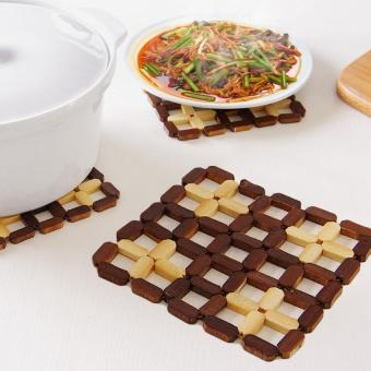 Square bamboo table pad Heat insulation mat Kitchen Accessories - intl Price Philippines