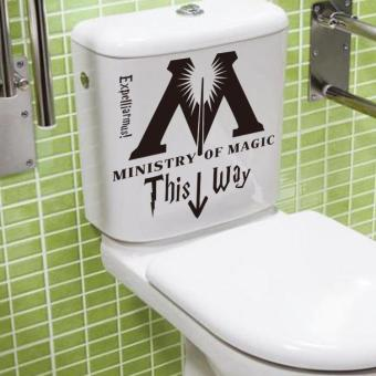 coconie Ministry Of Magic This Way Vinyl Sticker Toilet Seat Wall Decals Home Decor DIY - intl Price Philippines