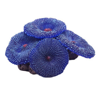 Harga HKS Fake Coral Soft Disc Aquarium Decor Blue (Intl)