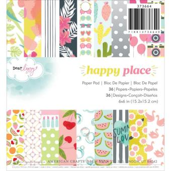 American Crafts 6x6 Paper Pad Dear Lizzy - Happy Place Price Philippines