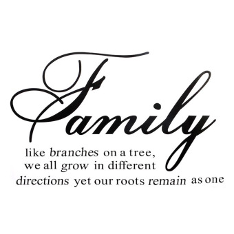 Harga NEW Family Like Branches on a Tree Quote Wall Sticker Decals Removable - intl