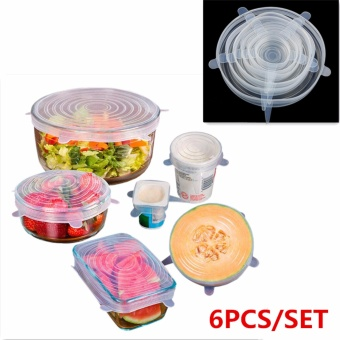 Harga Fengsheng 6X Food Grade Silicone Stretch Lids Fruit Food Huggers Storage Covers Bowl Cup Lid - intl