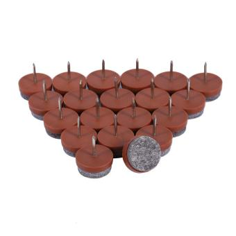 20x Furniture Table Chair Stool Leg Nail-on Felt Floor Protectors Pad Slide (Brown 20mm) - intl Price Philippines