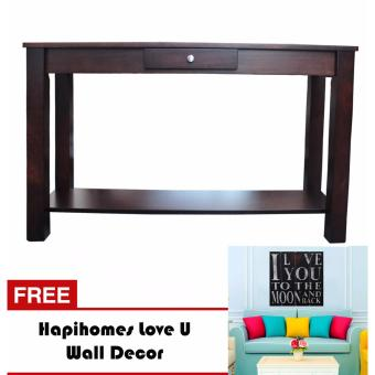 Harga Hapihomes Serenity Console Table WENGE FREE LoveU Wall Decor