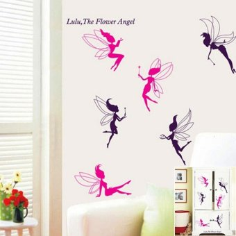 1 X Flower Angel Stickers for Kis Room Decoration PVC Art Wall Decals for Kids Dreamshopforever - intl Price Philippines