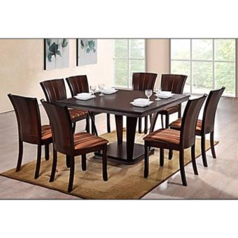 Harga Hapihomes Noble Olive 8-Seater Square Dining Set