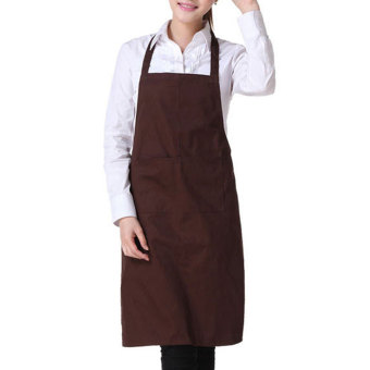 Harga YBC Fashion Women Light Weight Polyester Kitchen Apron Coffee - intl