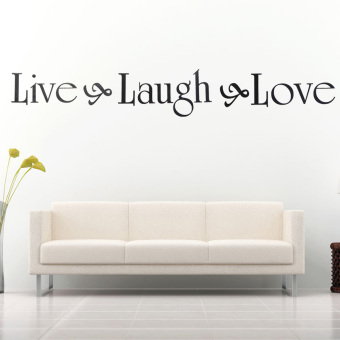Harga Live Laugh Love DIY Removable Decal Home Room Decor Wall Sticker Wallpaper New