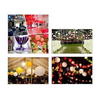 Harga MOON Store 10pcs Lantern Round Paper Wedding Party Festival Decoration Paper (White) - intl
