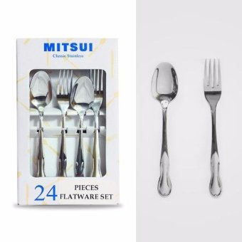 Harga MITSUI TUPPER 24 pieces flatware set 2.5mm Mirror Polished