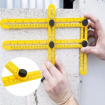 Harga Fengsheng New Multi-Angle Ruler Ultimate Tile & Floor Template Measuring Instrument Tools - intl