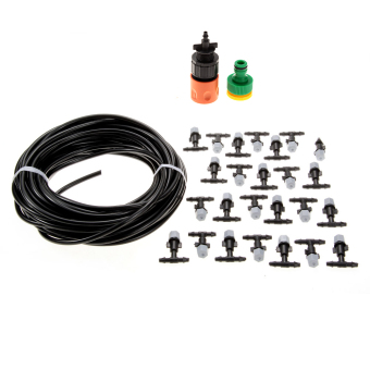 15m Hose Plus 25pcs Plastic Mister Atomizing Nozzle Cooling Outdoor Garden Shower Price Philippines