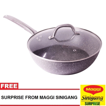 Harga Masflex 28Cm Stone Forged Deep Frypan with Free Surprise from Maggi Sinigang