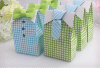 50pcs Bow Tie Candy Box For Wedding Birthday Party(Blue,Green) - intl Price Philippines