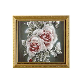 Harga DIY Fashion Diamond Cross Stitch Painting Embroidery Cross Crafts Stitch Home Decor-rose 1 - intl