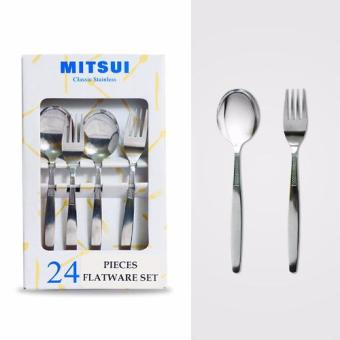 Harga MITSUI MICHELLE 24 pieces flatware set 2.0mm Vibro Finish
