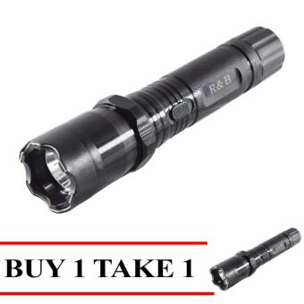 Fashion Rechargeable Police Flashlight with Stun Gun Taser Buy 1 Take 1 (Black) Price Philippines