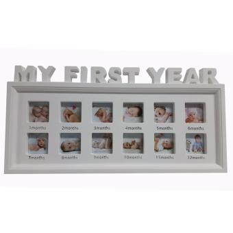 Ultralite 12-picture My First Year Babies Picture Frame (White) Price Philippines