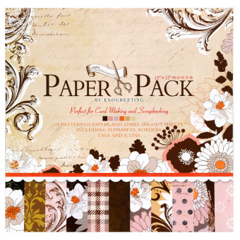 Harga INSPIRE 24 Patterned Papers & Die-cut Sheets Creative Floral Scrapbooking Paper Pack #01
