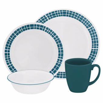 NEW AND AUTHENTIC CORELLE LIVINGWARE AQUA TILES 16-PC DINNERWARE SET Price Philippines