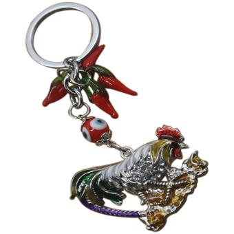 Harga Feng Shui Rooster Keychain with Chili Keychain