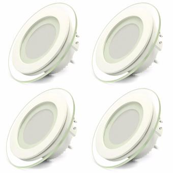 Harga Smart LED Ceiling Light Fixtures Round Ultrathin Panel 480LM 5000K (Day White)
