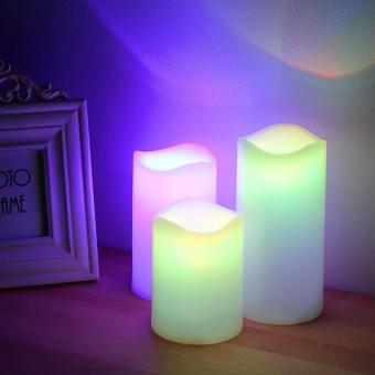 Harga color changing LED SCENTED candles(lavender scent)