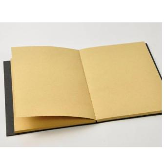 Harga Black Cover Brown Page 32K 64Sheets Blank Notebook